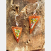 Recycled vintage tin and copper mixed metal dangle boho earrings