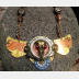 Steampunk  statement  repurposed breastplate winged watch parts