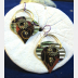 Trashy Tinsel Recycled Tin Steampunk Earrings