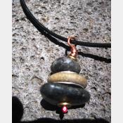 Zen stacked rock cairn