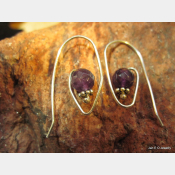 Amethyst gemstone and sterling hoop