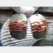 Mixed metal wire wrap earrings