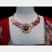 ReArt Tin and Mixed Metal  Hummingbird Breastplate