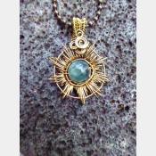 Corona pendant with the healing energies of fluorite