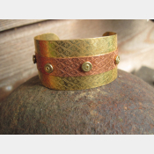 Mixed metal nugold and copper cuff - small